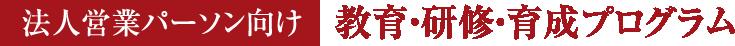 法人営業パーソン向け教育・研修・育成プログラム